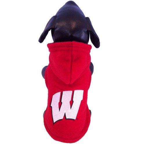 Badger Polar Fleece - All Star Dogs NCAA Wisconsin Badgers Collegiate Polar Fleece Hooded Dog Jacket (Small)
