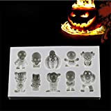 1 Pack Funny Halloween Skeleton Silicone Mold Fondant Mould Cake Decorating Tool Chocolate Mold Kitchen Gadgets