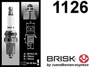 BRISK Premium Racing DR15ZC 1126 Bujías de Encendido, 6 piezas: Amazon.es: Coche y moto