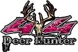 pink camo ford emblem - REFLECTIVE Deer Hunter Twisted Series 4x4 Truck Bedside or Fender Emblem Decals in Pink Camouflage