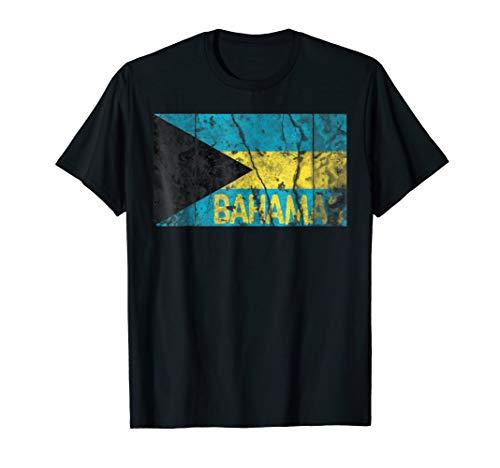 Bahamas Flag Distressed Vintage T-Shirt Bahamian Souvenir