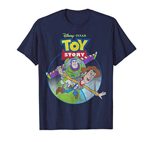 Disney Pixar Toy Story Woody Buzz Fly Poster Graphic T-Shirt ()