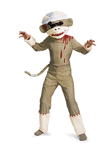 Zombie Sock Monkey Boys Costume, 7-8