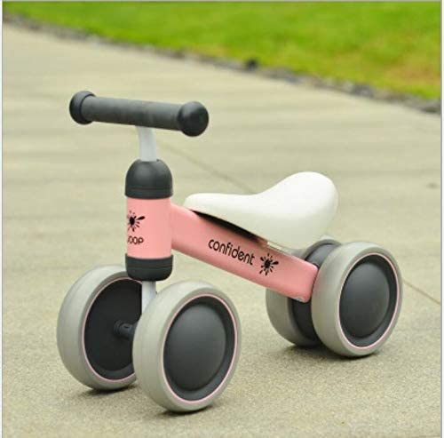 MYMAO 01Bebé Equilibrio Bicicleta, Mini Bicicleta niño Walker Juguete niño Bicicleta sin Pedal Interior al Aire Libre conducción Aprendizaje Juguete 1-3 año Viejo niño y niña,1003pink