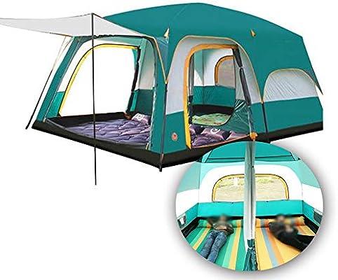 ANYURAN Tienda de campaña de Dos Habitaciones una Sala Transpirable y Resistente a la Lluvia Adecuada para más de 8 Personas Tienda de campaña autónoma toldo,Verde: Amazon.es: Deportes y aire libre