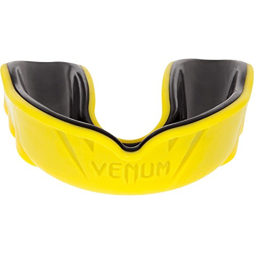 Venum Challenger Mouth Guard, Black/Yellow, One Size - Mouth Guard Designs