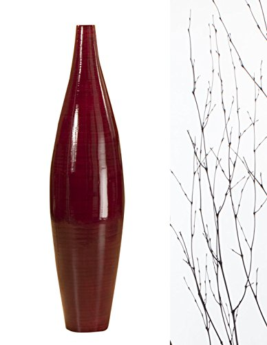 - Green Floral Crafts 41 in. Ellipse Mahogany RED Bamboo Vase and DIY Bamboo Branches