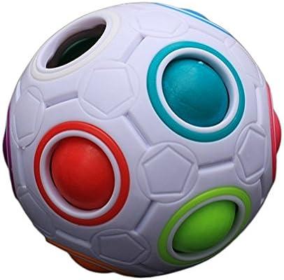 Pelota de fútbol para niños, diseño esférico, multicolor: Amazon ...