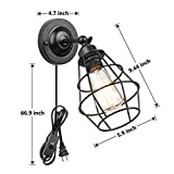 Wire Cage Wall Sconce, KOONTING Metal Industrial