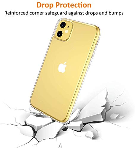 Plus Crystal Clear Soft Transparent Flexible Back Cover for Apple iPhone 11 2021 July 1.Thin minimal design is perfect for flaunting your iPhone device. 2.Durable anti-slip TPU keeps your phone lightweight and easy to install. 3.Reinforced buttons to promise quick responsiveness.