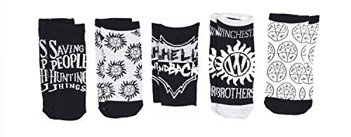 Supernatural Winchester Brothers Saving People 5 Pack Ankle Socks