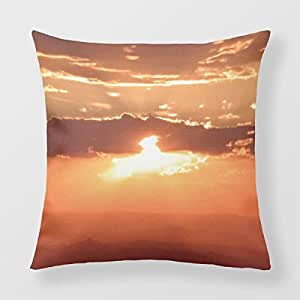 Refiring Cushion Case Sun Orange 18 Throw Pillow