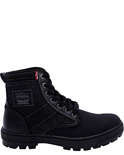 Levis Men's Richmond Denim Fashion Sneaker, Black 9 M US