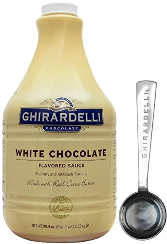 Flavored Sauce - Ghirardelli White Flavored Sauce, 89.4 Ounce Bottle - with Limited Edition Measuring Spoon