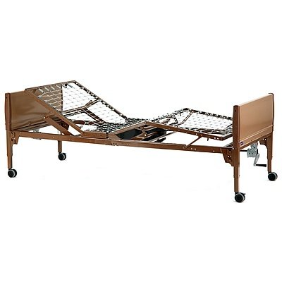Bed Hospital Invacare Standard - Value Care Semi-Electric Bed Package - Innerspring Mattress and Standard Full Length Rails