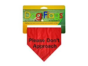 Dog Flags RF-0001 Red Ask Before Approaching flag