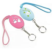 Emergency Personal Alarm Keychain Wolf Alarm for Elderly,Kids,Women,Girls,Self-Defense Electronic Personal Alarms Device with 120Db, 2pack