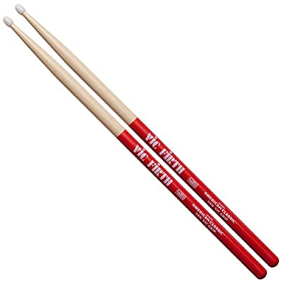 Vic Firth American Classic Drumsticks with Vic Grip, 5A Nylon