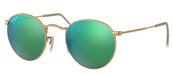 391afd0814 Amazon.com  Ray-Ban Round Metal Polarized Sunglasses  Clothing