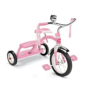 New Radio Flyer Tricycle Pink Classic Dual Deck Kids Trike Ride On Bike Toddler