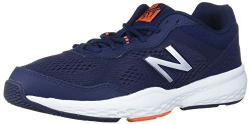 New Balance Men's 517v2 Cross Trainer, Pigment/Varsity Orange, 10 M US