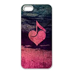 iPhone 5 5s Cell Phone Case White Rustic Musical Heart BNY_6820281