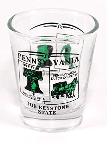 Pennsylvania State Scenery Green New Shot Glass