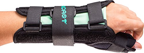 (Aircast A2 Wrist Support Brace with Thumb Spica: Left Hand, Small)