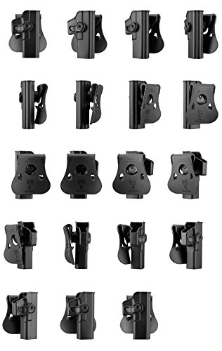 IMI Defense Glock 17 / 22 / 28 / 31 Tactical Combo Concealed Roto Holster + Double Mag Magazine Pouch Kit 4