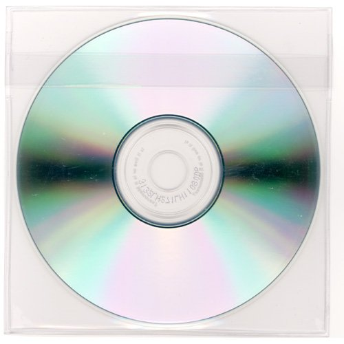 - StoreSMART - Peel & Stick CD/DVD Pocket - Clear Plastic - Loose Fit with Flap - 5 1/8