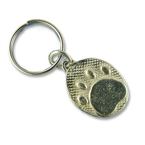 Pewter Paw Print Keychain by The Magic Zoo