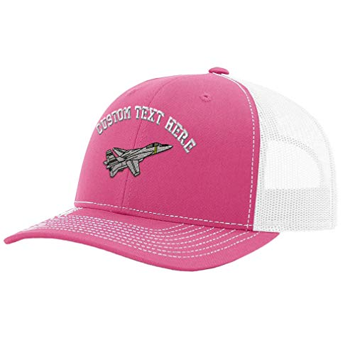 Custom Text Embroidered F-14 Tomcat Unisex Adult Snaps Polyester Richardson Structured Front Mesh Back Adjustable Cap Adjustable Hat Hot ()