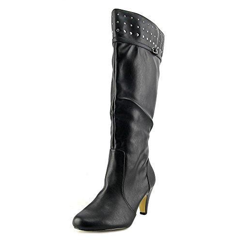 Bella Vita Women's Taryn II Plus Tall Wide Calf Boot,Black Synthetic,US 8 W (Wedge Women Boots Shaft)