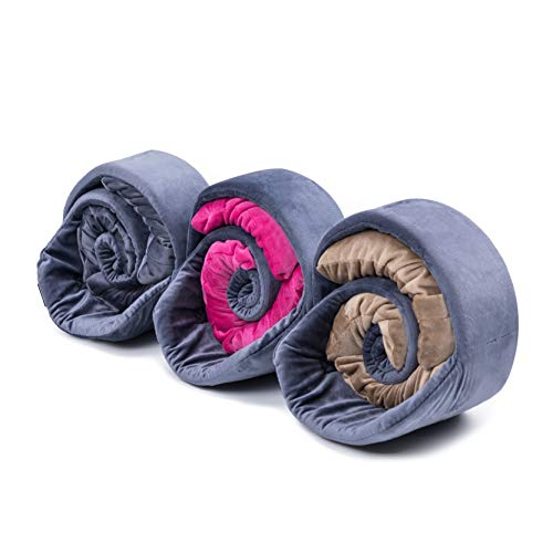 BUG Travel Pillow, Neck Pillow – The 1st Customisable Travel Pillow That ADAPTS to You – Revolutional Modular Design Provides World Class Customised Support to Suit Your Preference and Physique-Grey