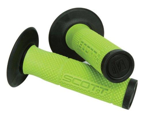 Green Black Scott Sx 2 Handlebar Hand Grips and Free Sticker Fits Kawasaki Kx80 Kx85 Kx100 Kx125 Kx250 Kx500 Kx250f Kx450 Kx450f Kdx200 Kdx220 Klx250 Klx300 1980-2014