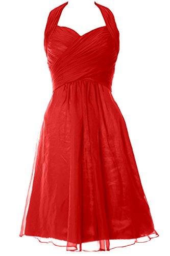 Senza Linea Red Vestito Ad Donna A Maniche Macloth n67q1W