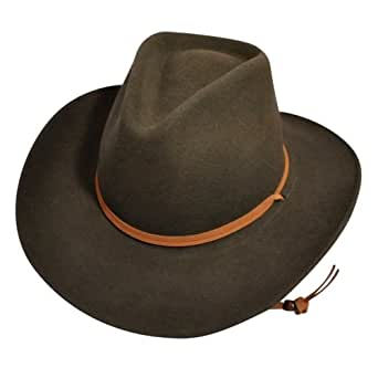 Bailey Western Unisex Wind River By Bailey Joe Eder Litefelt Outback Hat Serpent M