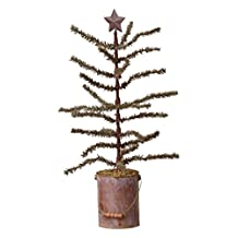 "Your Heart's Delight 24 x 12 x 12"" Antique Tree with Star in Rusty Paint Can"