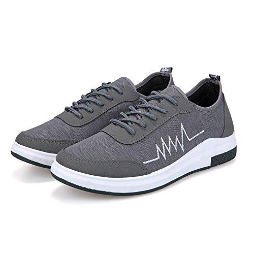Meshone athletische Turnschuhe Magone-Männer, die zufällige Schuhe laufen lassen Grau