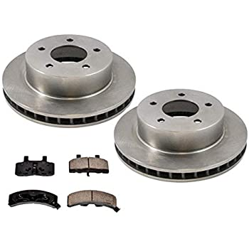 Front Ceramic Brake Pad Set /& Rotor Kit for 2012-2013 Honda CR-V 4WD//AWD
