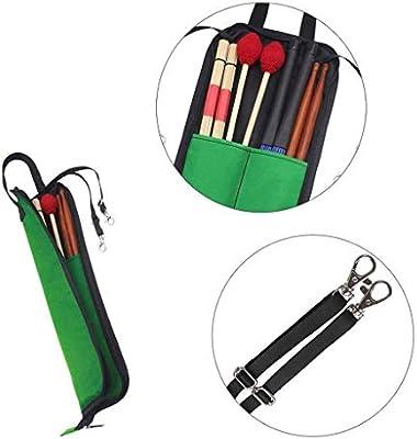 Aofocy Bolsa de baquetas Bolsa de almacenamiento a prueba de agua Accesorios de instrumentos Estuche para baquetas (verde): Amazon.es: Instrumentos musicales