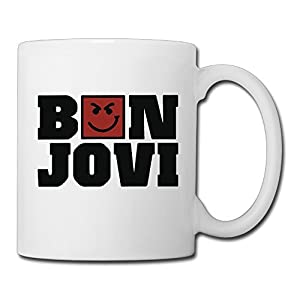 Christina Bon Jovi Have A Nice Day Logo Ceramic Coffee Mug Tea Cup White