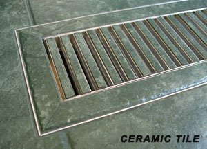 "Chameleon 2 1/4""""x12"" 3/8"" Thick Floor Vent Registers Matching Floor Tile Hardwood Laminate"
