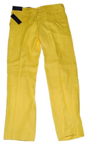 Yellow Linen Pants Mens - Jon Jean