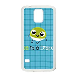 Samsung Galaxy S5 Cell Phone Case White Pea in a Diaper LSO7691356