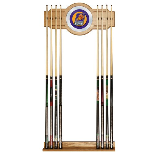 NBA Phoenix Suns Billiard Cue Rack with Mirror by Trademark Gameroom