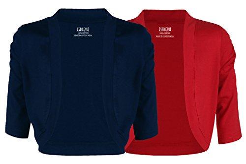 Espresso - Lote de camiseta y bolero para mujer azul marino y rojo