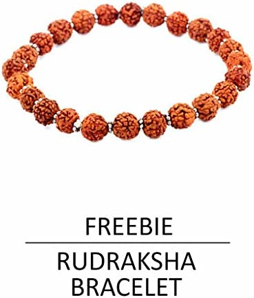 Skyjewels Mens 4.25 Ratti Sapphire Ring In Panchdhatu Free Size Yellow