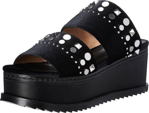 Shellys London(シェリーズロンドン) レディース 女性用 シューズ 靴 サンダル Eden - Black 37 (US Women's 6.5) M [並行輸入品]