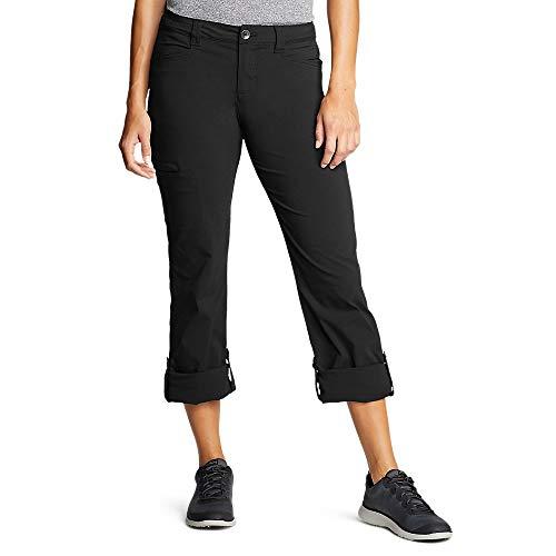 Eddie Bauer Women's Horizon Roll-Up Pants Tall, Black Tall 6